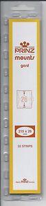 Package of 22 Prinz CLEAR Mounts 215 x 26