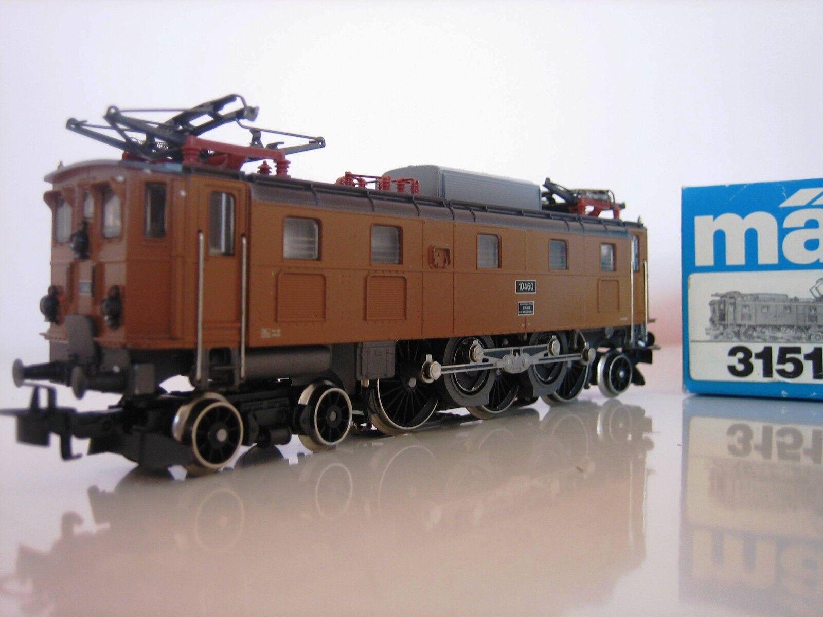 Märklin h0 3151 E-Lok 10460 perfette condizioni CONFEZIONE ORIGINALE