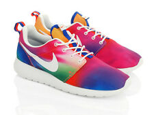 NIKE ROSHE RUN UK SIZE 9 MENS TRAINERS BNIB RAINBOW TIE DYE COLOUR BRIGHT PRIDE