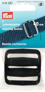 Prym 2 Klemm-Leiterschnallen Stegbreite 50 mm  Schnalle Steckschnalle  416393