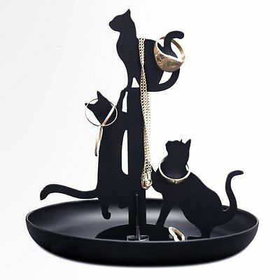 Kikkerland Black Cats Ring & Jewelry Holder / Stand 612615081338 ...