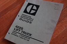 Caterpillar 422s Forklift Maintenance Manual Owner Guide Book Towmotor Truck Oem