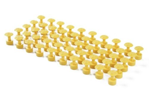 Paintless Dent Repair Glue Pulling Tools 50pcs Yellow Spiral PDR Tabs 17mm
