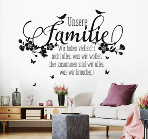 Details Zu Wandtattoo Spruch Familie Zusammen Zitate Liebe Zuhause Wand Tattoo Ws16