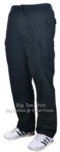 "Big Mens Black Kam Crow 30 /"" IL Cargo Pants sizes 42 to 60"