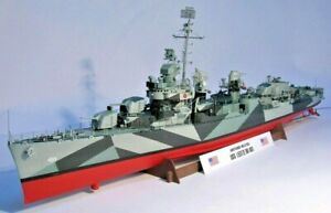 Fletcher class destroyer  USS Leutze DD-481 (Greyhound movie)  1/200 scale model