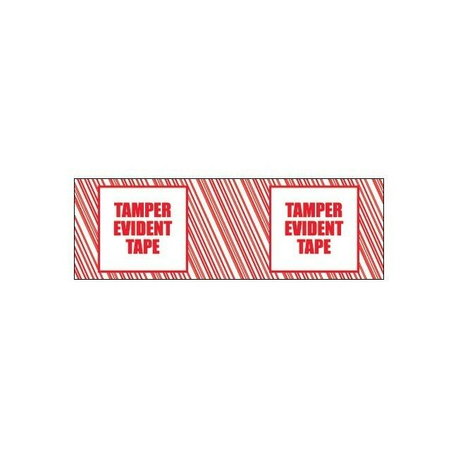Tape Logic Security Tape,   Tamper Evident  , 3  x110 yds, Red White, 6 Case