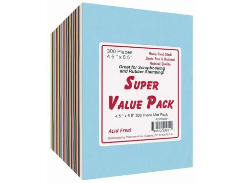 PAPER ACCENTS ADP99991  SUPER VALUE VARIETY PACK 4 5X6 5 300PC MAT PACK