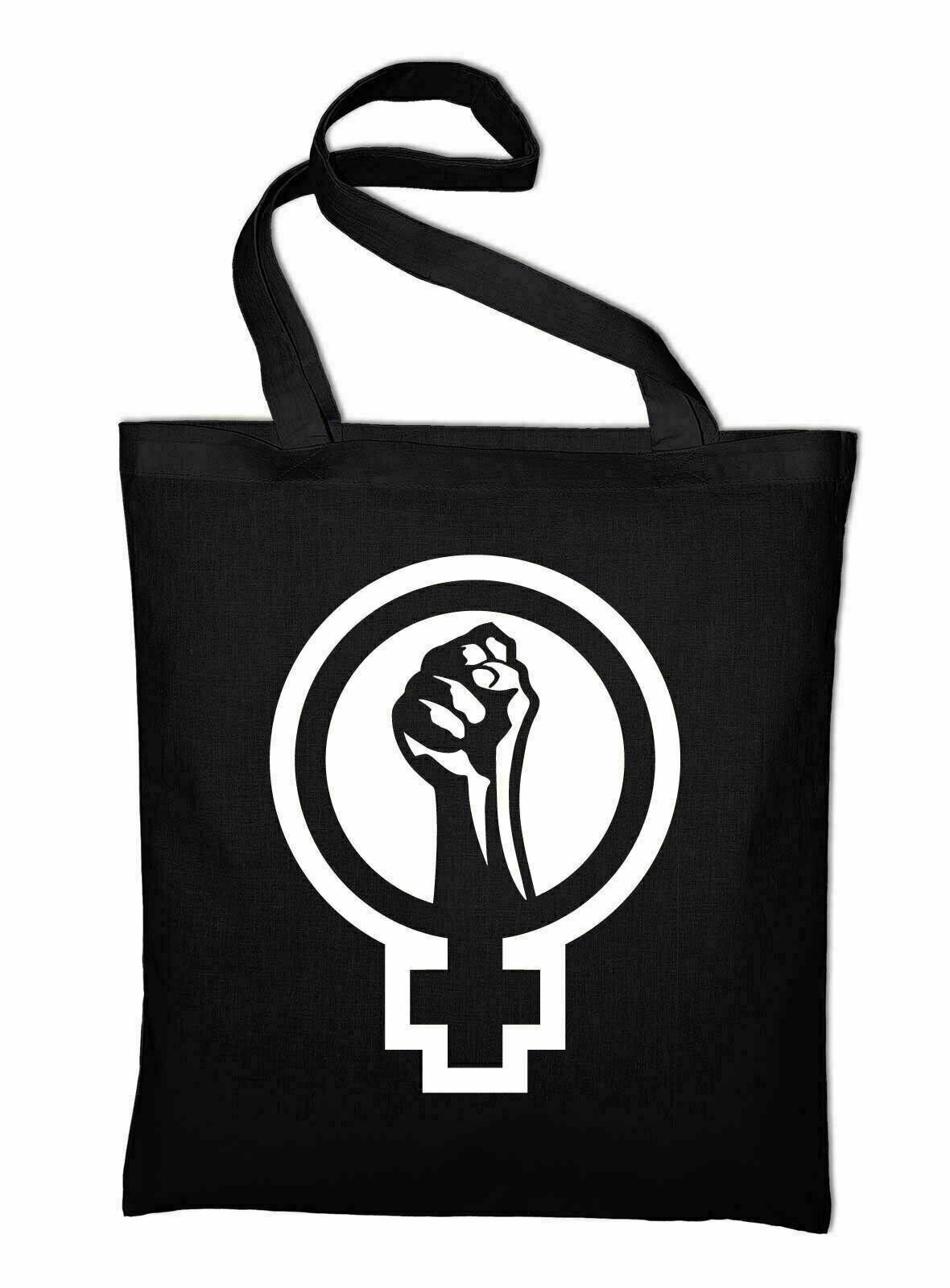#2 Feminismus Logo Jutebeutel Beutel Stoffbeutel Baumwolltasche Feminist Zeichen