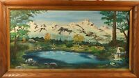 Unknown Artist Vintage Oil on Canvas Panel SIGNED FRAMED PAINTING