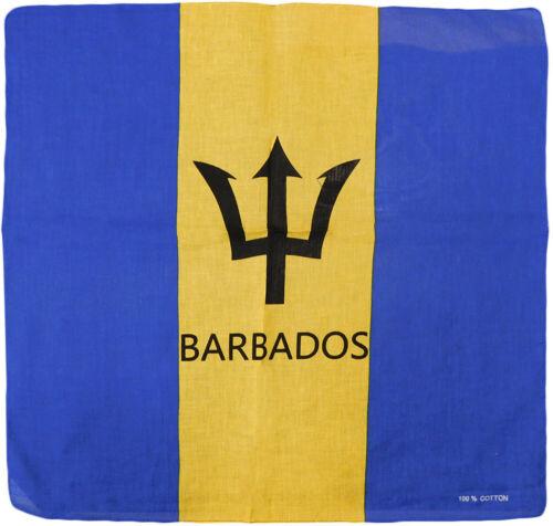 "Wholesale Lot of 12 Barbados 22/""x22/"" 100/% Cotton Bandanna"