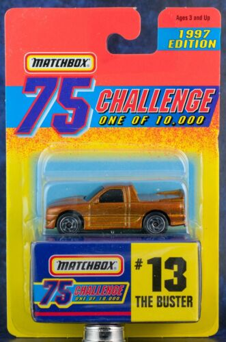 Matchbox MB 13 The Buster Gold 75 Challenge 1997 Edition New On Card
