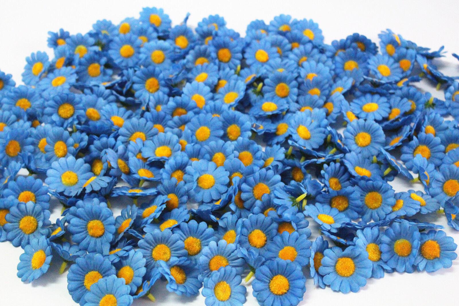 ดอกไม้ปลอม ดอกทานตะวันสีฟ้า 10 pcs Artificial Silk Blue Heronsbill Buds นำเข้า - พร้อมส่งW879 ราคา99บาท