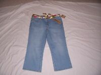 With Tags Women's Jeanstar Light Wash Capri Size 14 Stretch