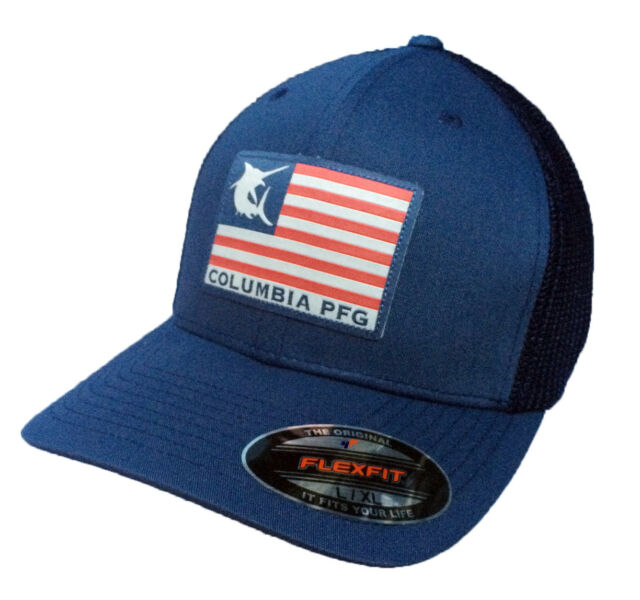Columbia Unisex Flag Flexfit Mesh Ball Cap Hat VARIETY COLORS All Sizes