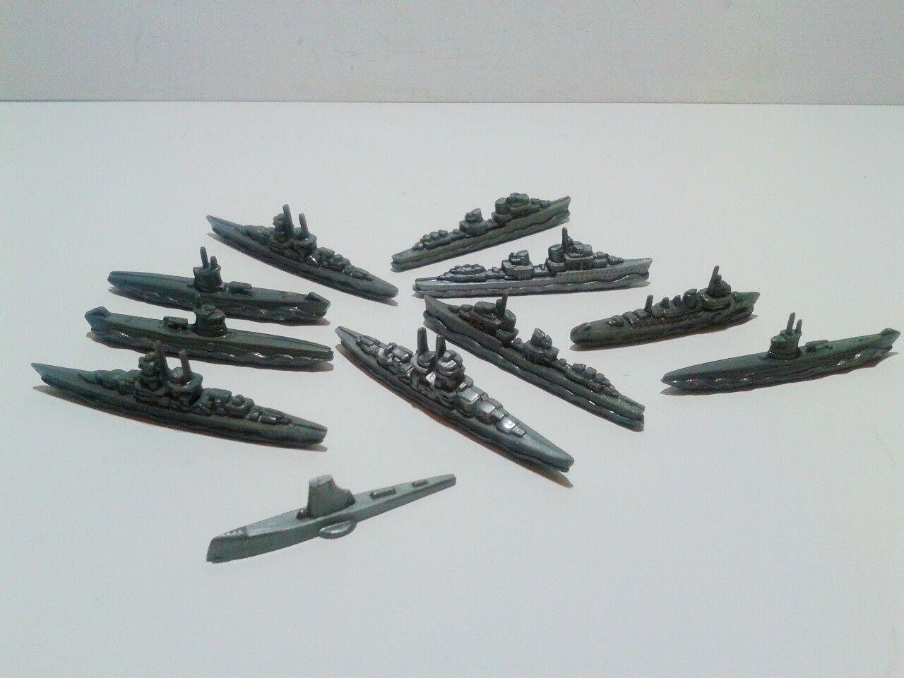 WWII German Winter Relief 11 navy ships WHW Winter Hilfe plastic near mint