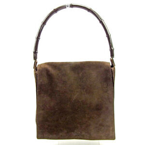 80d6acd0be6 Image is loading Gucci-Shoulder-bag-Bamboo-Brown-Woman-Authentic-Used-