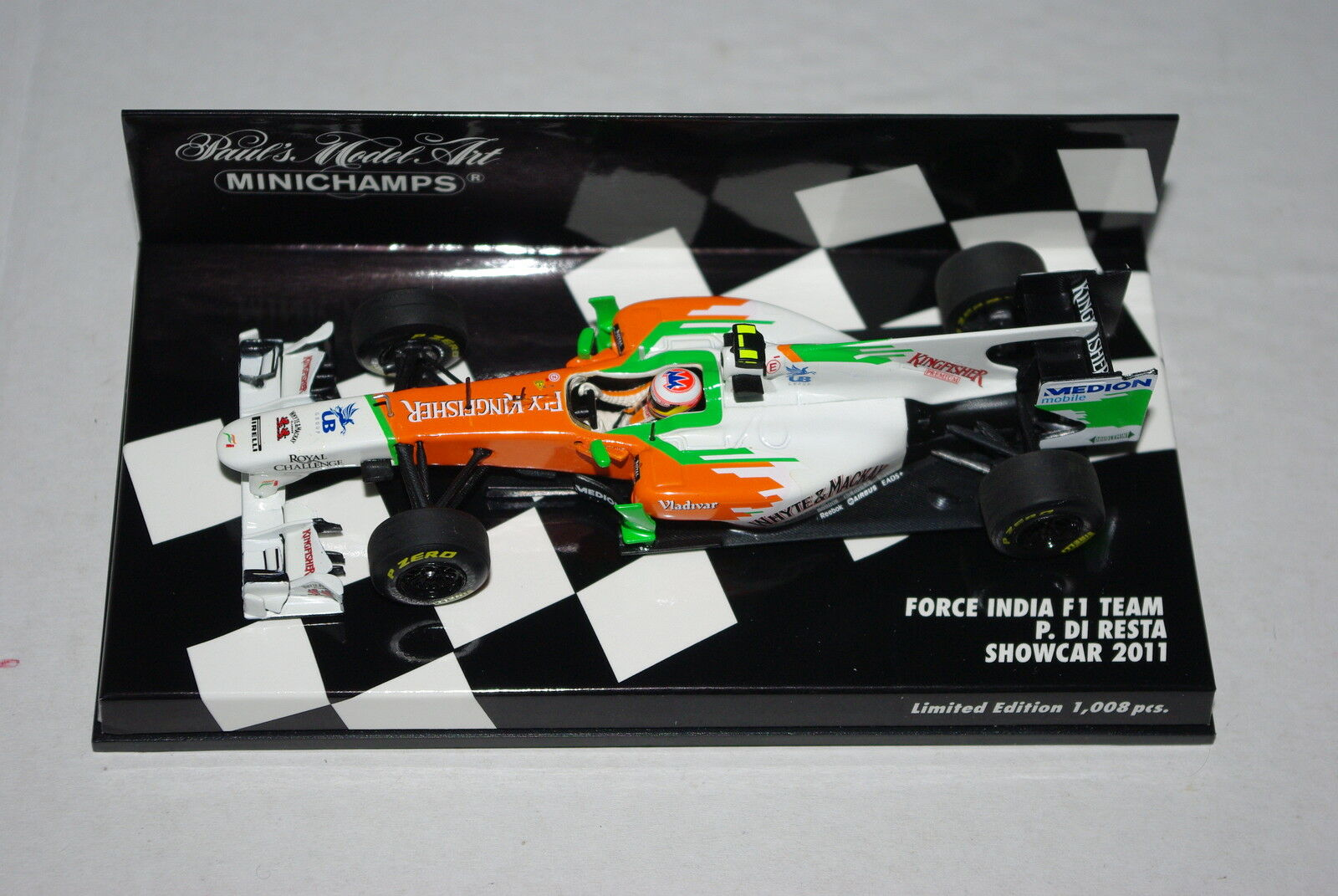 Minichamps F1 1 43 Force India F1 Team Show Voiture 2011 Paul di Resta
