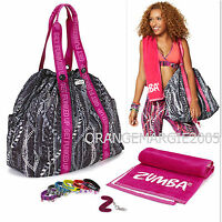 Zumba Rep My Style Gift Set Jumbo Tote Duffle Bag,braclets,towell,key Ring-rare
