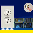 Pro Duplex Night Angel Light Sensor LED Plug Cover Wall Outlet Coverplate Worthy