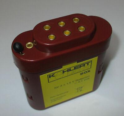 Kahlert 60897 Batteriebox avec capuchon pour 3x1,5 Volts Piles NOUVEAU//Neuf dans sa boîte *
