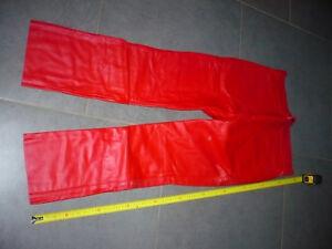 pantalon-vintage-1980-suzuki-taille-XL-neuve-tres-ancien-stock-cuir-vachette