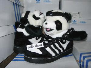 Détails sur 2011 Adidas Jeremy Scott JS Panda Bear taille 42,5 44,5 Teddy u42612 Wings Tigre y3 afficher le titre d'origine
