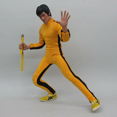 HOT FIGURE TOYS 1/6 model Chinese kung fu classic Yellow conjoined clothes