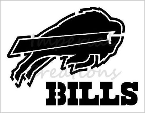 """/""""BUFFALO BILLS/"""" Football Team 8.5/"""" x 11/"""" Stencil Plastic Sheet NEW S118"""