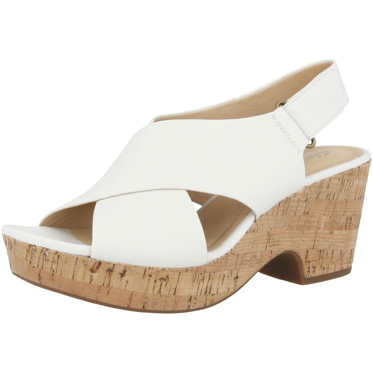 Clarks Maritsa Lara damen Damen Sandale Freizeit Sandaletten Weiß 26141375