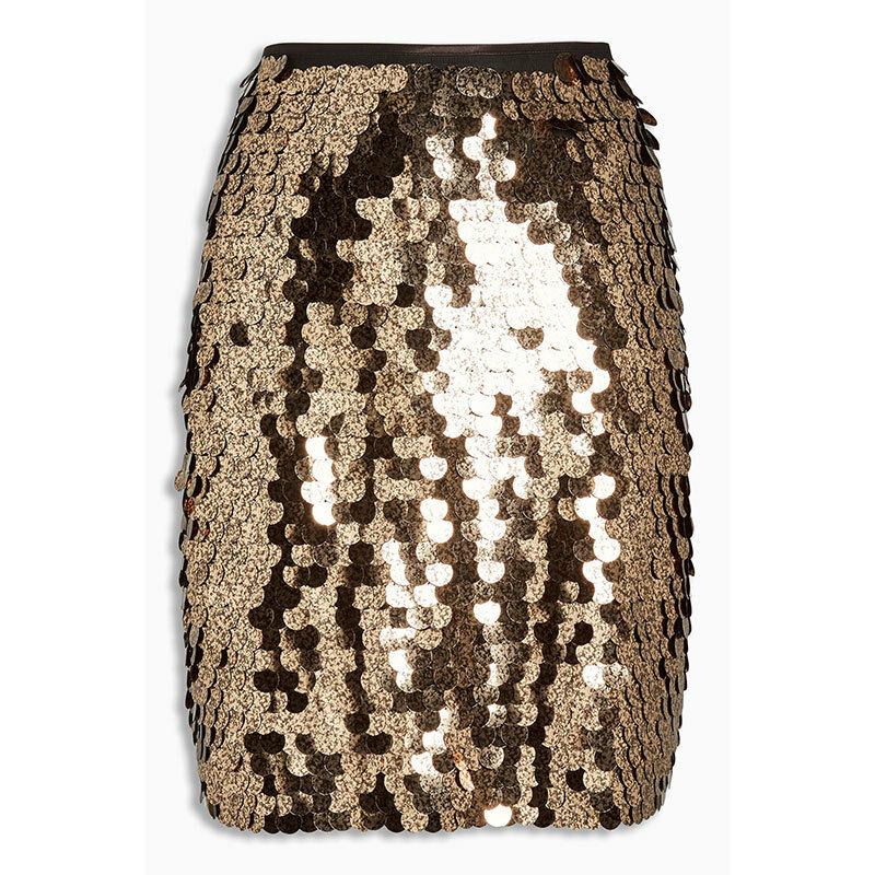 NEXT LADIES gold SEQUIN SKIRT,SIZE 20,BNWT,RRP