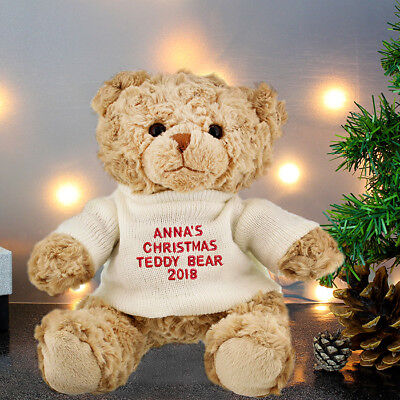 Baby S First Christmas Gift Personalised Teddy Bear 1st Christmas Xmas Gift Idea Ebay