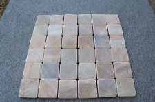 Sample Tumbled Onyx 5 cm by 5cm Mosaic  tiles for kitchen or bathroom