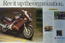 SUZUKI KATANA 1100 Original 2 Page Motorcycle Ad 1988