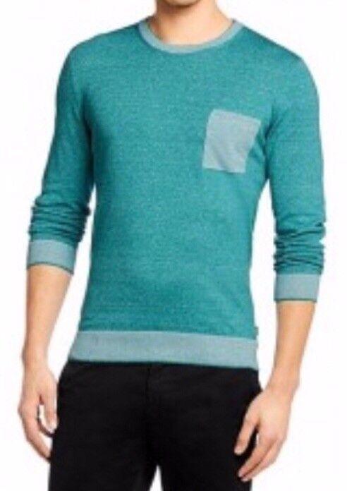 Hugo Boss bluee Loblack Linen Blend Sweater.  (23A)