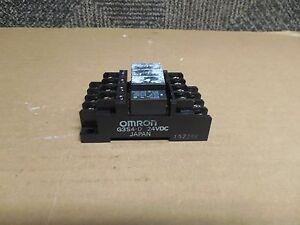 OMRON RELAY BLOCK G3S4-D 24Vdc G3S4D w/ G6B-1174P-FD-US