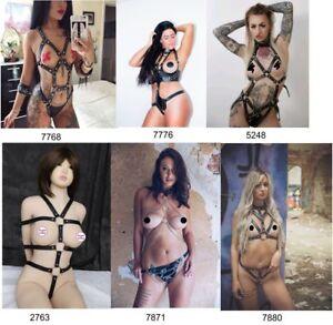 Womens-Black-Leather-Body-Chest-Harness-Bra-Cage-Dress-Restraint-Bondage-Belt-UK