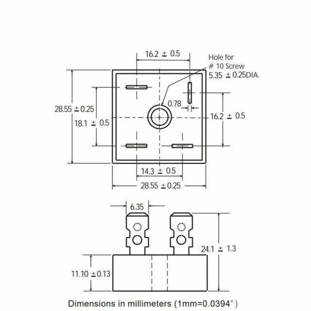 gbpc3506 bridge rectifier ac to dc wiring diagram multicomp gbpc3506 bridge rectifier single 35a 600v gbpc for sale  bridge rectifier single 35a 600v gbpc