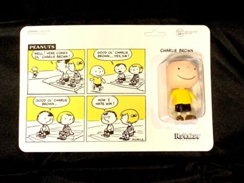 2019 Super 7 ReAction Figurine Peanuts Charlie Brown San Diego comic-con nouveau livraison gratuite