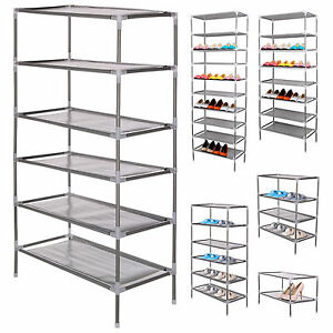 2-4-6-8-10-TIER-SHOE-STORAGE-RACK-ORGANISER-CABINET-SHELF-F-6-12-18-24-30-PAIRS
