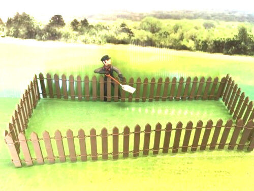 G-scale TAN Color Real Wood Picket Fence 3 Feet Long & Positionable, LGB Size