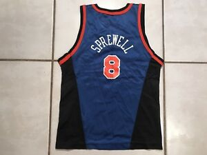b326d0fb3 Image is loading Rare-Vintage-CHAMPION-New-York-Knicks-Latrell-Sprewell-