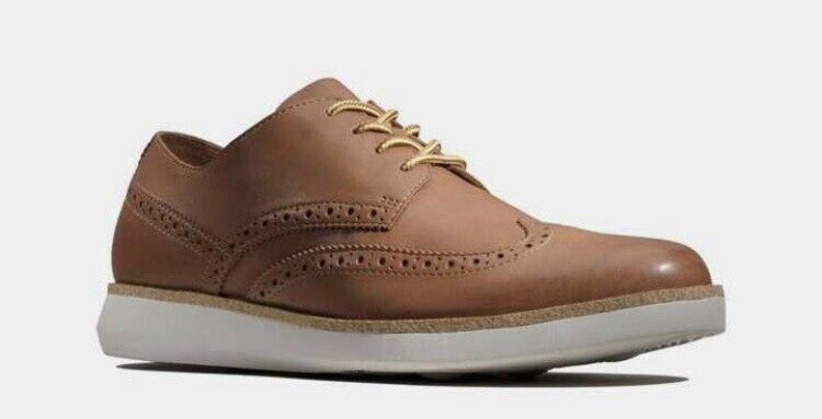 Clarks Mens Casual Fairford Walk Brown Leather Comfortable Outdoor Shoes 12 G