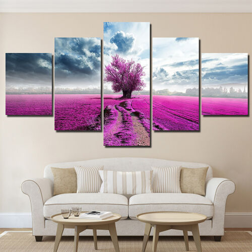5 Panels Unframed Modern Canva Art Oil Painting Picture Home Wall Hanging Decors