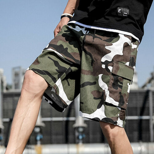 Men Gym Training Shorts Workout Sports Casual Clothing Fitness Running Shorts H#