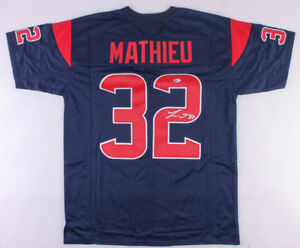 huge discount d3b97 b0c9e Details about Tyrann Mathieu Signed Houston Texans Color Rush Jersey  (Beckett COA)Honey Badger