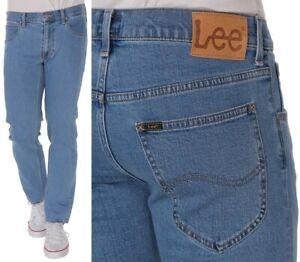 Lee-Herren-Jeanshose-Daren-Zip-Fly-Regular-Straight-Blau-It-Stone-W31-W38