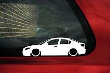 2x LOW Mazda 3 saloon / sedan (sp23) 1st gen outline sticker / Decal,silhouette