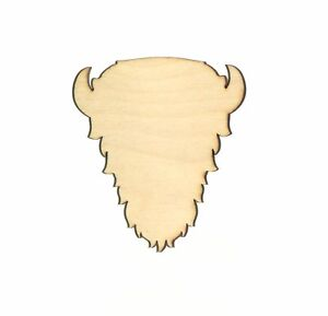 Buffalo-Head-Unfinished-Wood-Shape-Cut-Out-BH11002-Crafts-Lindahl-Woodcrafts