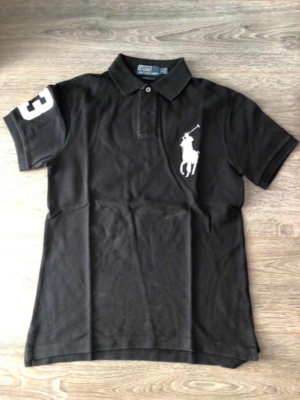 Original Herren Polo-Shirt Ralph Lauren , Schwarz Schwarz Schwarz , Slim Fit , Gr. S ,  | Moderne Technologie  054004